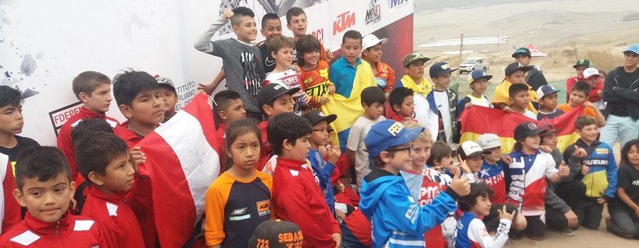 STUARDO (Chile), DURAND (Perú) y VASQUEZ (Venezuela), Campeones de la Copa FIM Latinoamericana de Minicross Perú-2018.